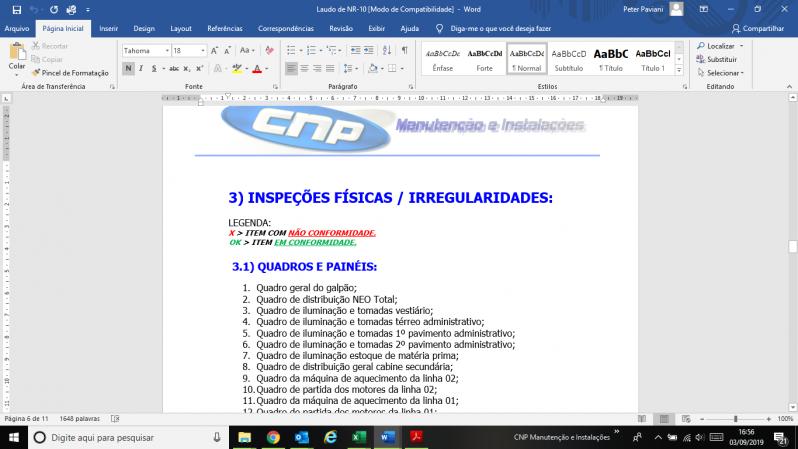 Laudo de Para-raios Spda Ibirapuera - Laudo Vistoria Spda