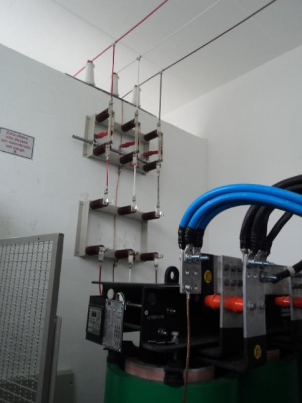 Montagem de Cabine Primária com Transformador Guararema - Cabine Primária com Transformador