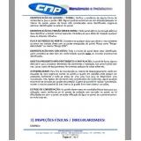 laudo técnico elétrico para seguradora Pompéia