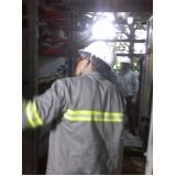 manutenção elétrica em cabine primária